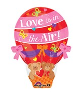 "22"" Junior Shape Love is in the Air Balloon Balloon"