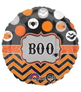 "18"" Modern Halloween Balloon Packaged"