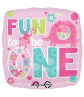 "18"" One Wild Girl Balloon Packaged"