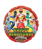 "18"" Power Rangers Dino Charge Happy Birthday Balloon"