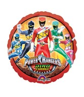 "9"" Airfill Only Power Rangers Dino Charge Balloon"