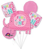 Bouquet One Wild Girl Balloon Packaged