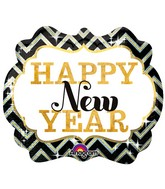 "25"" Holographic SuperShape New Years Marquee Balloon"