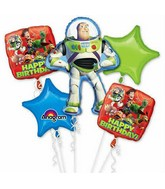 Bouquet Toy Story Gang Birthday Balloon Packaged