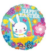 "18"" Easter Bunny Floral Balloon"