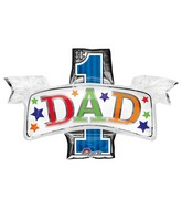 "38"" SuperShape #1 Dad Balloon"