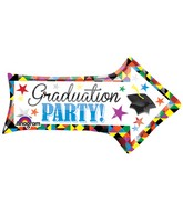 "36"" SuperShape Grad Party Arrow Balloon"