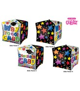 "15"" Cubez Way to Go Grad Stars Balloon Packaged"