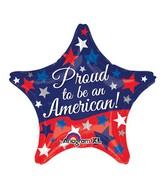 "18"" Proud to be American Balloon Packaged"