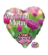 "29"" Singing To A Wonderful Mom Balloon Packaged"