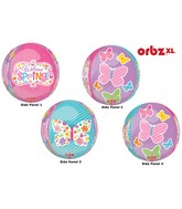 "16"" Orbz Welcome Spring Balloon Packaged"
