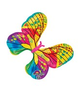 "31"" SuperShape Fancy Butterfly Yellow Balloon Packaged"