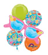 Bouquet Summer Fun Balloon Packaged