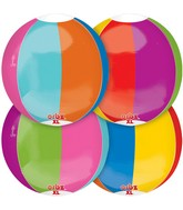"16"" Orbz Beach Ball Balloon Packaged"