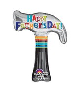 "35"" Happy Father&#39s Day Hammer Balloon Packaged"