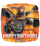 "18"" How to Train Your Dragon Happy Birthday Packaged"