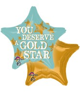 "18"" You Deserve Star Balloon Packaged"