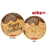 "16"" Orbz Happy Birthday Cake Pop Balloon Packaged"