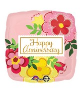 "18"" Flowery Anniversary Balloon Packaged"
