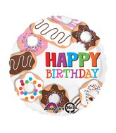 "18"" Donuts Happy Birthday Balloon"