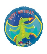 "18"" Happy Dragon Happy Birthday Balloon"