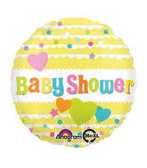 "18"" Baby Shower Yellow Balloon Packaged"