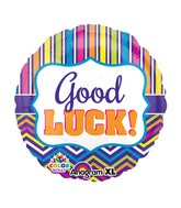 "21"" ColorBlast Good Luck Stripe & Chevron Balloon"