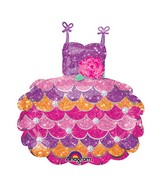 "28"" SuperShape Party Dress Balloon Packaged"