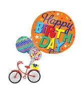 "31"" SuperShape Happy Birthday Bike Balloon"
