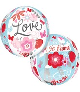 "16"" Orbz Meet Me in Paris Balloon Packaged"