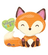 "28"" SuperShape Welcome Baby Fox Balloon Packaged"
