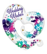"31"" SuperShape Watercolor Wedding Wishes Packaged"