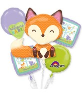 Bouquet Woodland Welcome Balloon Packaged