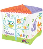 "15"" Cubez Woodland Welcome Balloon Packaged"