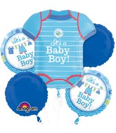 Bouquet Shower With Love Boy Balloon Packaged