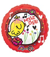 "18"" Feliz Dia Yellow Birdie Balloon"