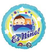 "18"" Es Nino Baby Boy In Bed Balloon Packaged"