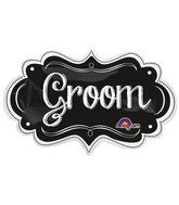 "27"" SuperShape Groom Charlkboard Marquee Packaged"