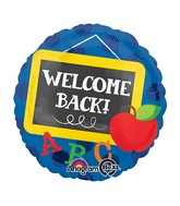 "18"" Welcome Back Chalkboard Balloon"