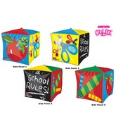 "15"" Cubez School Days Balloon Packaged"
