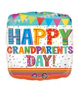 "18"" Happy Grandparents Day Confetti Balloon"