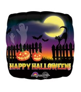 "18"" Haunted Halloween Scene Balloon"