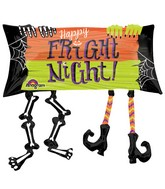 "33"" SuperShape Happy Fright Night Legs Balloon Packaged"