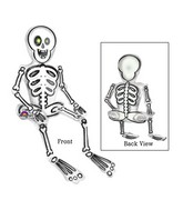 "26"" Airfill Only Sitting Skeleton Balloon Packaged"
