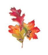 "32"" See-Thru SuperShape Fall Leaf Trio Balloon"