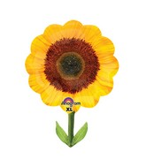 "29"" SuperShape Yellow Sunflower Balloon Packaged"