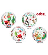 "16"" Orbz Clear Christmas Scene Balloon Packaged"