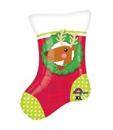 "20"" Junior Shape Christmas Stocking Balloon"