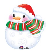 "17"" Junior Shape Bundled up Snowman Balloon"