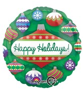 "18"" Holiday Ornaments Balloon Packaged"